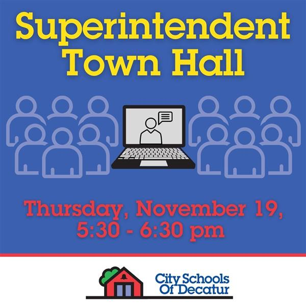 Video of November 19 Superintendent Town Hall