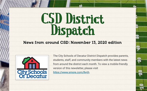November 2020 District Dispatch