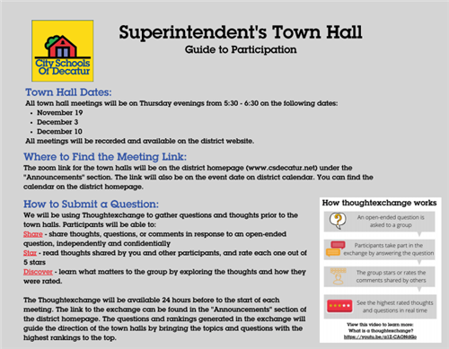 superintendent's town hall guide to participation